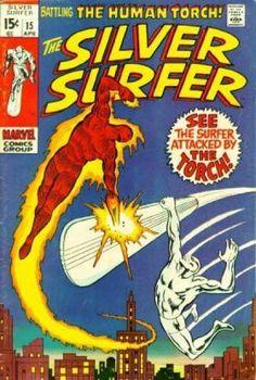 The Human Torch - Comics Code - Marvel Comics Group - See The Surfer - City - Joe Sinnott
