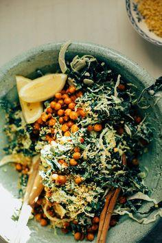 kale + brussels caesar