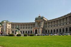 Heldenplatz and The Hofburg. Vienna, Austria.