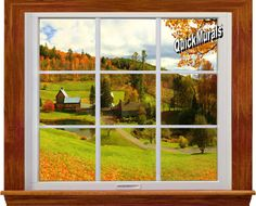 Country Window 1-Piece Canvas Peel & Stick Canvas Wall Mural