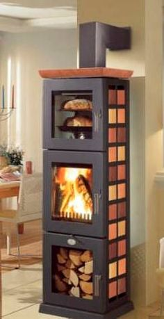 Holzofen mit Backofen Weiter Source by annamonteagudo The post Holzofen mit Backofen appeared first on My Art My Home. Home Fireplace, Fireplace Design, Fireplaces, Wood Stove Cooking, Diy Wood Stove, Freestanding Fireplace, Rocket Stoves, Wood Burner, Tiny House Living