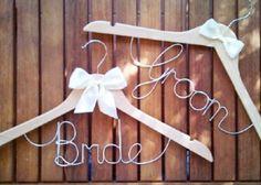The prettiest wedding hangers!