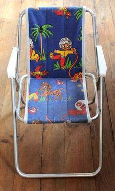 La chaise pliante de camping que nos parents nous ont offert pour Pâques