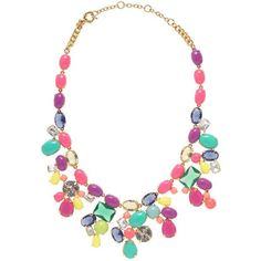 J.Crew Color mix statement necklace ($165) ❤ liked on Polyvore