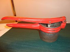 1940's Red Handled Spaetzle Maker - Potato Ricer (Vintage)