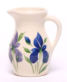 Posie Ceramic Pitcher - Field Of Iris