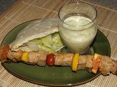 Pork Skewers with Feta Mint Tzatziki recipe served at Kouzzina at Boardwalk Resort in Disney World