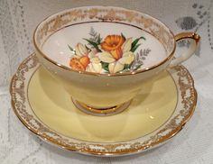 Vintage English Sutherland Bone China Tea Cup & by CupsAndRoses