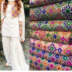 Pakistani Stich Make on Order Salwar Suit With Kachhi Jacket Designs For Dresses, Dress Neck Designs, Blouse Designs, Dress Indian Style, Indian Dresses, Indian Outfits, Pakistani Formal Dresses, Pakistani Dress Design, Designer Punjabi Suits