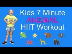 Need to get some exercise? Zoe shows us the 7 animal moves for this fun kids HIIT workout. Original exercise program and animal . Physical Activities For Kids, Physical Education Lessons, Therapy Activities, Learning Activities, Kids Learning, Zumba Kids, Kids Gym, Yoga For Kids, Exercise For Kids