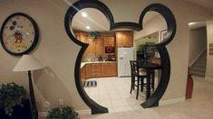 Disney home decor idea - Mickey Mouse Head door! Disney home decor idea - Mickey M Casa Disney, Disney Diy, Disney Dream, Deco Disney, Disney Theme, Mickey Mouse House, Mickey Mouse Bedroom, Mickey Mouse Kitchen, Disney Furniture