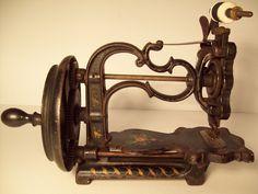 Antique Vintage A F Johnson Co Hand Crank Sewing Machine | eBay