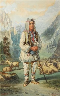 View Sheepherder by Carol Popp de Szathmari on artnet. Browse upcoming and past auction lots by Carol Popp de Szathmari. Folk Costume, Costumes, Othello, Russian Folk, Vermont, Romania, Cowboys, Painting, Pastor
