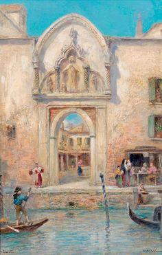 Frans Wilhelm Odelmark 1849-1937   Swedish painter   Venedig