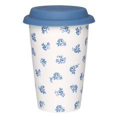 GreenGate Porcelain Travel Mug Lucia Indigo H 14 cm A/W 2015