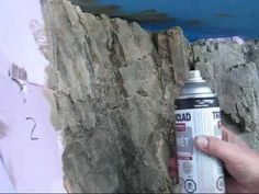 Tutorial How to make stone-structure in styrofoam . Christmas Village Display, Christmas Villages, Train Miniature, Faux Rock, Model Train Layouts, Model Trains, Models, Instant Access, Nativity