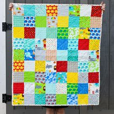 baby quilt. bungle jungle. gender neutral. by sewquiltmom