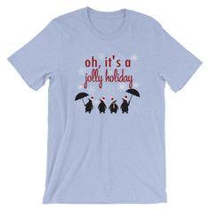 c322e950 Jolly Holiday Snowfall, Disney Christmas, Mary Poppins Unisex T-Shirt