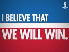 OMG this was my teams chant for nationals!!!! I BELIEVE THAT WE WILL WIN I BELIEVE THAT WE WILL WIN!