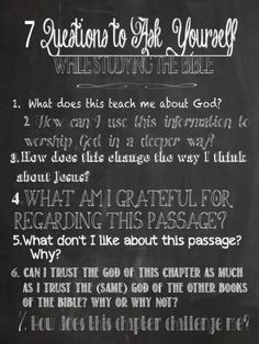 Simple way to study and apply a passage of Scripture: just read and ask questions. (ask your parent, spouse, mentor, or pastor for more insight when you get stuck.) Some interesting questions to get you thinking. Youth Bible Study, Small Group Bible Studies, Bible Study Tips, Bible Study Journal, Scripture Study, Bible Verses, Scriptures, God Is For Me, Bible Questions
