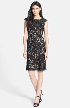 Sue Wong Embroidered Sheath Dress Available At Nordstrom