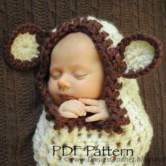 crochet cocoon pdf - Gerepind door www.gezinspiratie.nl #haken #haakspiratie #knutselen #creatief #kind #kinderen #kids #leuk #crochet