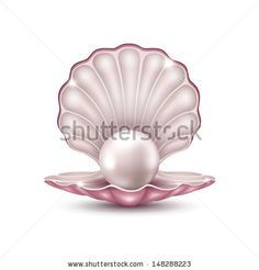 Vector illustration of a beautiful pearl in a shell on a white background by Johnny-ka, via Shutterstock