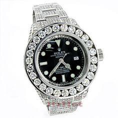 Genuine Rolex Sea Dweller customized with 32.55 carats of genuine diamonds! http://www.itshot.com/rolex-sea-dweller-deepsea-mens-custom-diamond-watch-3255ct.aspx