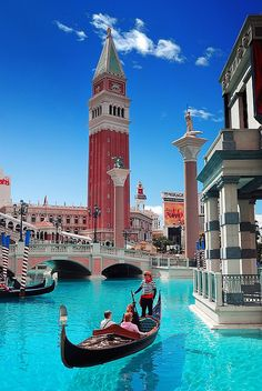 The Venetian - the gondoliers actually sing in italian.