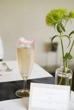 Champagne garnished with cotton candy!