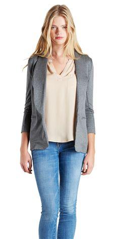 JOIE Neville Blazer Dark Grey | Cotton Blend Jacket
