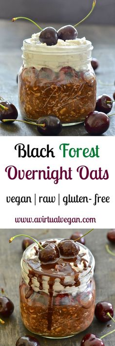 Who wouldn't want to wake up to these Black Forest Overnight Oats? Seriously the best oatmeal I have ever tasted. Just like a Black Forest Gateau but in a healthier breakfast form. Any other breakfast will be a disappointment after this jar of utter gorge