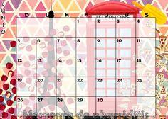 Calendario mensual #2016 - #Junio / #Monthly #Calendar #June