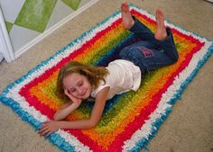 Recycled Knit Scrap Rug