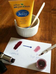 Turn too bright lipstick into lipgloss