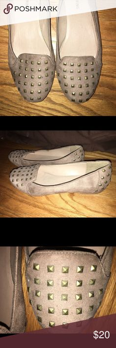 Studded Flats Tan sued flats with bronze studded embellishments. Call It Spring Shoes Flats & Loafers