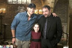 Director Jensen, Mark and Gracyn Shinyei bts 11x03 The Bad Seed