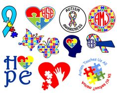 Custom Autism Awareness monogram decal by AbbysClosetTX on Etsy