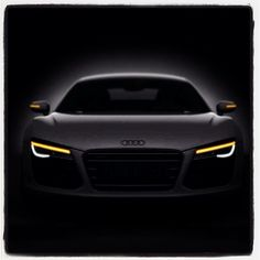 Audi R8 lying within the darkness! #R8