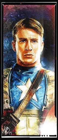 The Avengers - Captain America / ALPC :: THE ALL NIGHT LIGHT AND POWER COMPANY | The Digital art of Daniel Scott Gabriel Murray