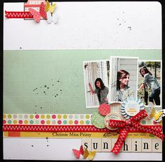 photos all across most of middle; several lines of journaling across bottom edge of white