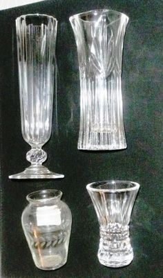 Glass Dashing Pair Of Large Blown Glass Amber Tall Vase Etched To Clear Design Stemware