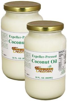 Tropical Traditions Expeller Pressed Coconut Oil, Non-Certified - 32-oz. glass- 2-Jar Pack by Tropical Traditions, http://www.amazon.com/dp/B000W775WW/ref=cm_sw_r_pi_dp_x67lsb1158GEC