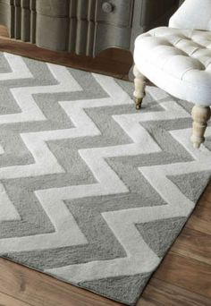$5 Off when you share! Quinta Indoor Outdoor Chevron Soft Grey Rug | Contemporary Rugs #RugsUSA
