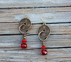 NEW! Sexy Statement Earrings in Red by Eleven11designs, $16.00