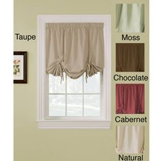Ridgedale Woven Blackout 63-inch Tie-up Shade | Overstock.com Shopping - Great Deals on Blinds & Shades