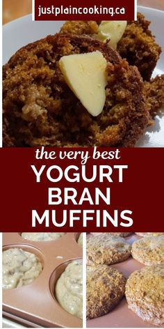 Janet's Yogurt Bran Muffins - The Best You'll Ever Taste Janet's Yogurt Bran Muf. Janet's Yogurt Bran Muffins – The Best You'll Ever Taste Janet's Yogurt Bran Muffins are li Healthy Sweet Snacks, Healthy Muffin Recipes, Nutritious Snacks, Gourmet Recipes, Snacks Recipes, Healthy Desserts, Quick Recipes, Brunch Recipes, Pasta Recipes