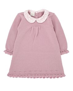 Paz Rodriguez Knitted Dress In Pink || Igloo Kids Clothing