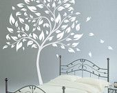 Vinyl Wall Decals Wall Graphic - White Tree ....Cute