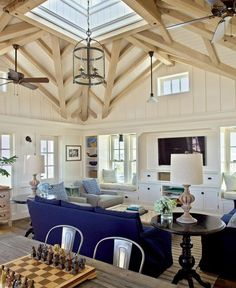 Detail similar to this for family room off kitchen with cupola/sky light.:
